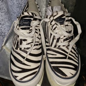 Sperry Top Sider calf hair lace up